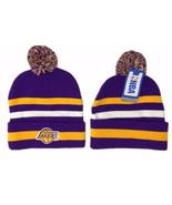 Los Angeles LA Lakers NBA Winter Cuffed Knit Po... - $19.79