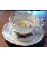 Cup and Saucer Royal Stuart Roses Bone China Sp... - $19.99