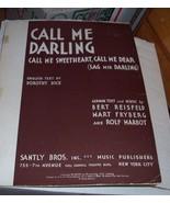 Call Me Darling by Bert Reisfeld Mart Fryberg &... - $0.99