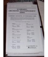 Schirmer's Orchestra Accompaniment Series Halle... - $0.99