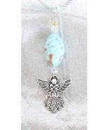 Enchanting Judy Strobel  Art Glass Angel Pendan... - $19.00
