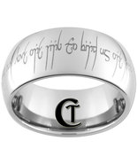 Tungsten Carbide 8mm Dome Lord of the Rings Des... - $49.00