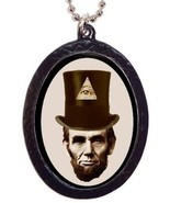 Abraham Lincoln Illuminati Necklace All Seeing ... - $8.90