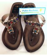Palm Harbour Women's Smokey Jelly Flip Flop San... - $17.99