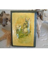 Vintage Rabbit Bumble Bee 3D Raised Relief Puff... - $14.95