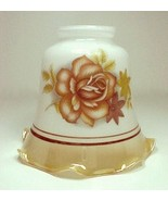 Bell Light Shade 2 1/4 in Gold Lustre Rose Ceil... - $10.00