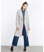 BNWT ZARA WOOL COAT WITH SIDE POCKETS GREY Sz.X... - $138.59
