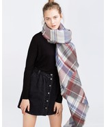 BNWT ZARA CHECK AND STRIPED SCARF REF. 4219/224... - $39.59