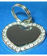 Small Crystal Heart Pet ID Tag - 2 side engrave - $19.95