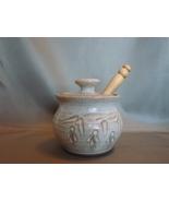Sweet Tree Pottery Stoneware Studio Honey Pot, ... - $19.99