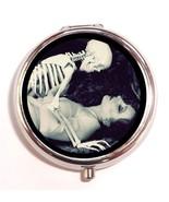 Flapper Skeleton Romance Pill Box Case Pillbox ... - $7.43
