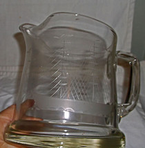 Vintage Cut Glass Clear Martini Pitcher w/ Clip... - $8.42