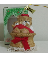 New Lil Chimer Handpainted Bear Bisque Bell Orn... - $4.00