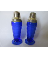 Depression Glass Moderntone Cobalt Salt & Peppe... - $9.99