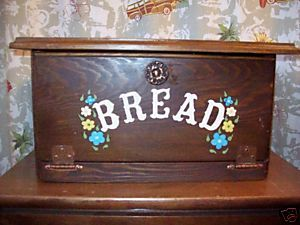 Breadbox Wood Country Vintage Flowers OOAK Shabby