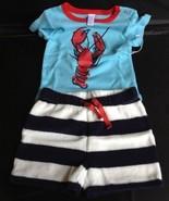 New Nordstrom Baby Boy Maine Lobster Navy Sailo... - $9.75