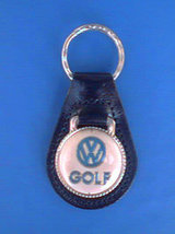 VW GOLF LEATHER AUTO KEYCHAIN KEY CHAIN RING FO... - $3.75