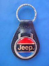 CHRYSLER JEEP KEYCHAIN KEY CHAIN RING FOB RED B... - $3.75