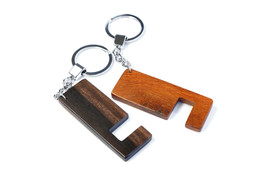 2 Pcs. Hard Wood Keychain Iphone Android Phone ... - $11.99