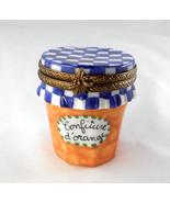 Limoges Box - Orange Confiture Jam Jar Gingham ... - $79.00