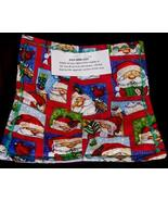 Microwave Bowl Cozy Potholder 2 SANTAS COMING T... - $10.95