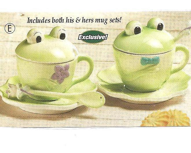 Image 1 of Frog Mug and Saucer Set