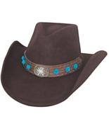 Bullhide Thinkin Problem Wool Cowgirl Blue Flow... - $62.00