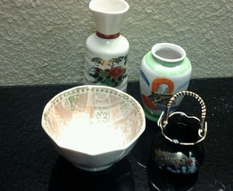 Assorted Japanese Porcelain Decor -lot of 4 - $19.95