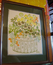 VTG ANTIQUE ESTATE MID CENTURY FLORAL FLOWER WA... - $297.99
