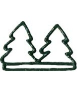 Double Green Tree christmas metal bellpull 4.5