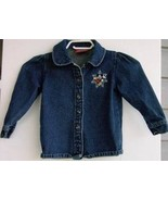 Denim Shirt Jacket Kids 3X Mickey Mouse Blue Lo... - $6.93