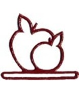 Red Apples metal bellpull 4.5