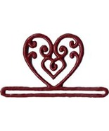 Red Filigree Heart metal bellpull 3.25