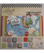 Graphic 45 Mother Goose paper pad 24 DS sheets ... - $34.99