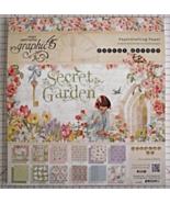Graphic 45 Secret Garden paper pad 24 DS sheets... - $139.99
