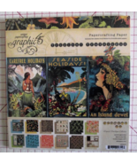 Graphic 45 Tropical Travelogue paper pad 24 DS ... - $69.99