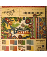 Graphic 45 Bohemian Bazaar paper pad 24 DS shee... - $44.99