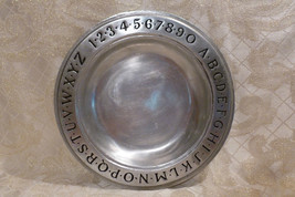 Wilton Pewter Vintage Alphabet And Numeral Plate - $30.00