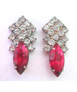 Art Deco Marquise Synth Ruby & 30 Round Faceted... - $11.87