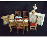Buy dollhouse miniature dining room furniture vintage
