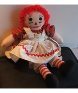 Vintage Raggedy Ann Doll with Embroidered Features - $19.99
