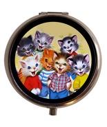Kawaii Cat Pill Box Case Pillbox Kittens Super ... - $7.43