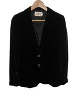 Womens Black Velvet Blazer Jacket Size 7 8 CASU... - $14.45