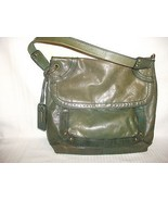 Fossil Green Distressed Leather Long Live Vinta... - $19.78