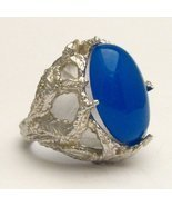 New Blue Onyx Cab 18x13mm Solid Sterling Silver... - $112.50