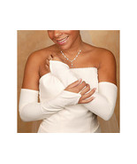 Fingerless Matte Satin Bridal Glove Opera/Shoul... - $24.95