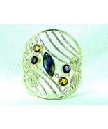 Labradorite with Faceted Amethyst + Citrine Ste... - $144.78