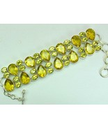 Golden Table-Top Faceted Teardrops + Ovals Citr... - $141.68