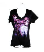 Womens Black Harley-Davidson Tee Shirt Pink Des... - $32.99