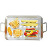 Chefmaster Stainless Steel BBQ Grill Tray KTBQGT2 - $21.99